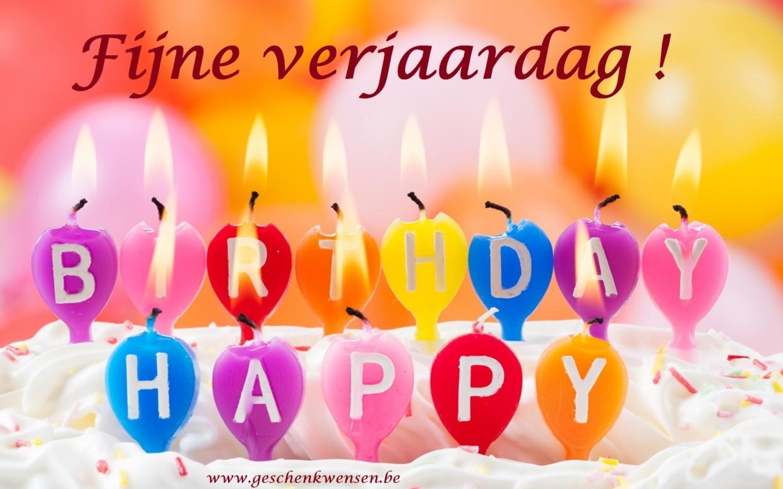 Fijn verjaardag!