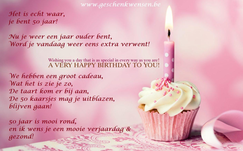 verjaardag vrouw wens