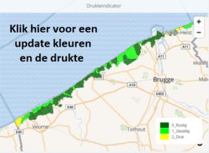 druktebarometer Belgische Kust